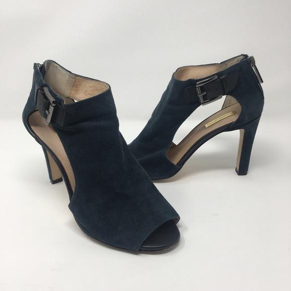 3d8b160f89e2 louise et cie Shoes - louise et cie teal olivia peep toe cut out heels